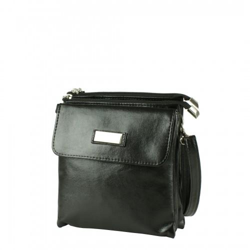 LD016 czarna torebka listonoszka producenta torebek damskich Dawidex dostępna w hurtowni interneowej