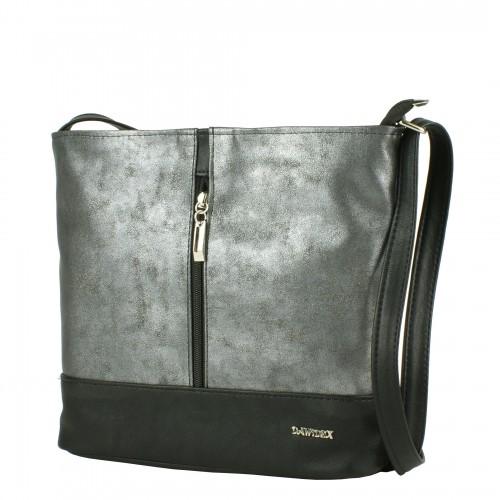 LD070 czarno grafitowa torebka listonoszka producenta torebek damskich Dawidex dostępna w hurtowni interneowej