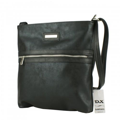 LD074  czarna torebka listonoszka producenta torebek damskich Dawidex w hurtowni internetowej
