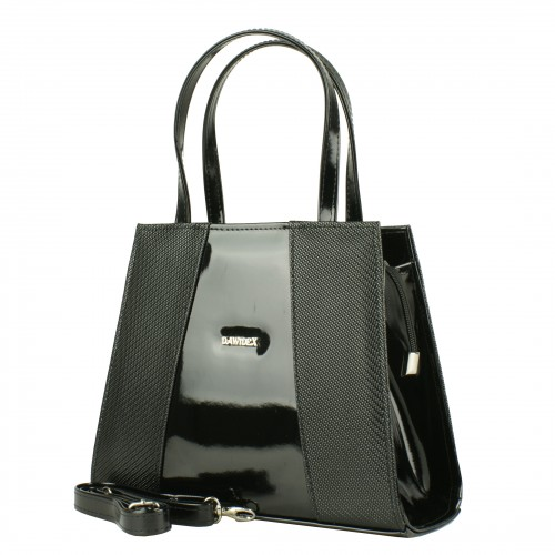 TD23 czarna torebka wizytowa