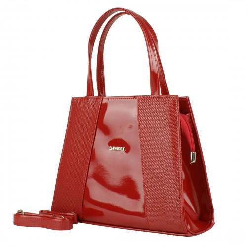 TD23 czerwona torebka wizytowa