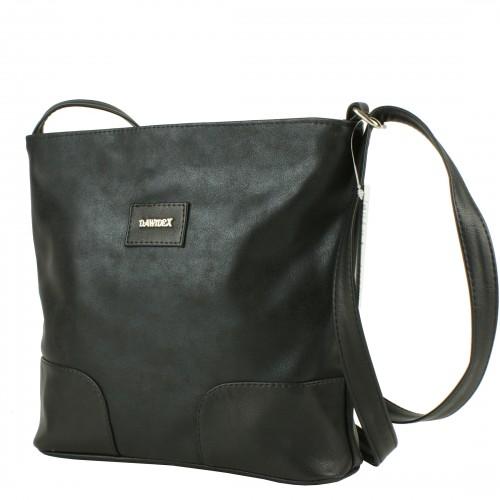 LD067 czarna torebka listonoszka producenta torebek damskich Dawidex dostępna w hurtowni interneowej