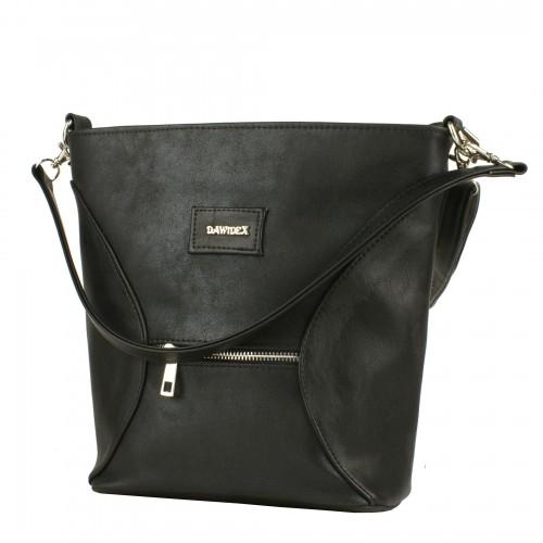 LD062  czarna torebka listonoszka producenta torebek damskich Dawidex w hurtowni internetowej