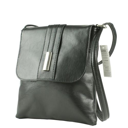LM019 czarna torebka listonoszka producenta torebek damskich Dawidex dostępna w hurtowni interneowej